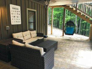 Lower level outdoor lounge area
