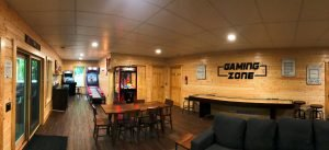 Lower level game room and lounge