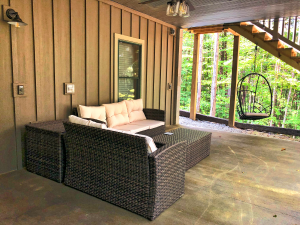 Lower Patio at The Lyric at Harble Ridge